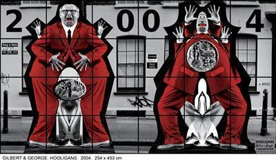 HOOLIGANS, 2004 By Gilbert and George
