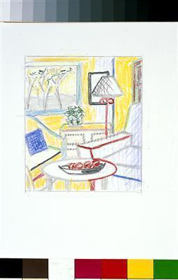 Drawing for Interior with Painting of Trees, 1997