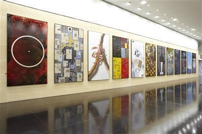12 Harmonic Paintings, 2011 (Installed at Deustche Bank, Lon...