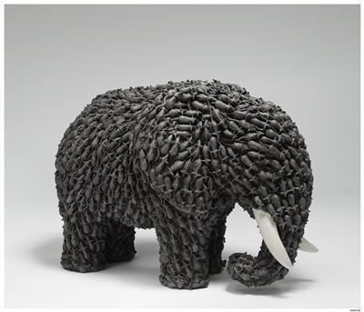 Large Field Array: Elephant of Mice (detail of 85/300), 2006... By Keith Tyson