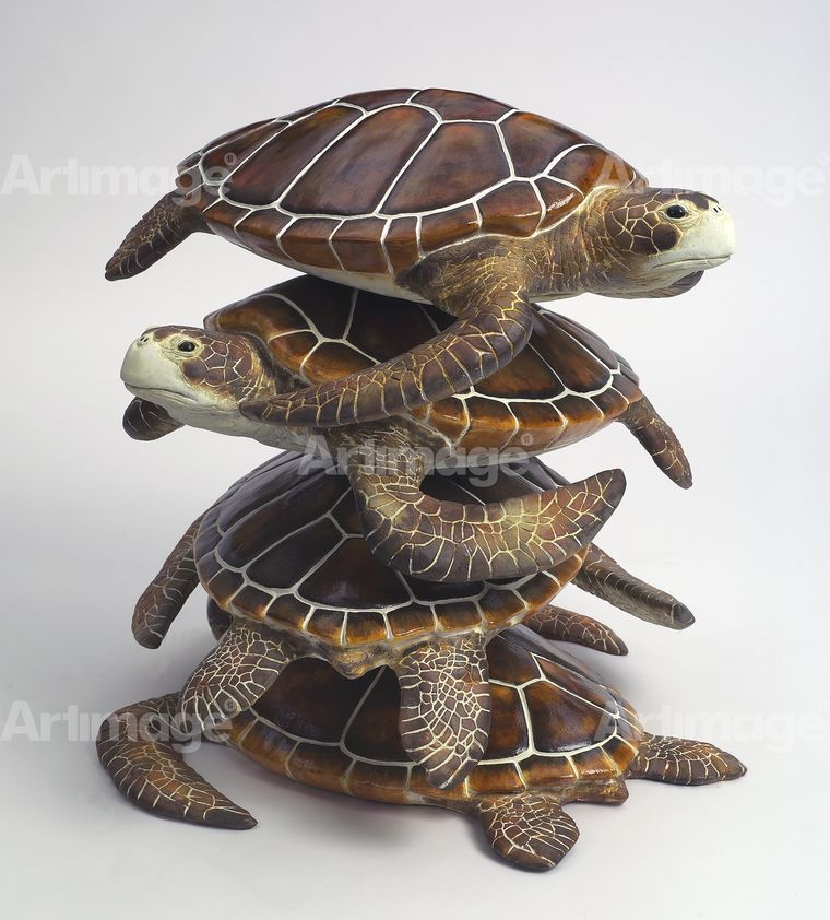 Large Field Array: Stack of Turtles (detail of 52/300), 2006 - 2007