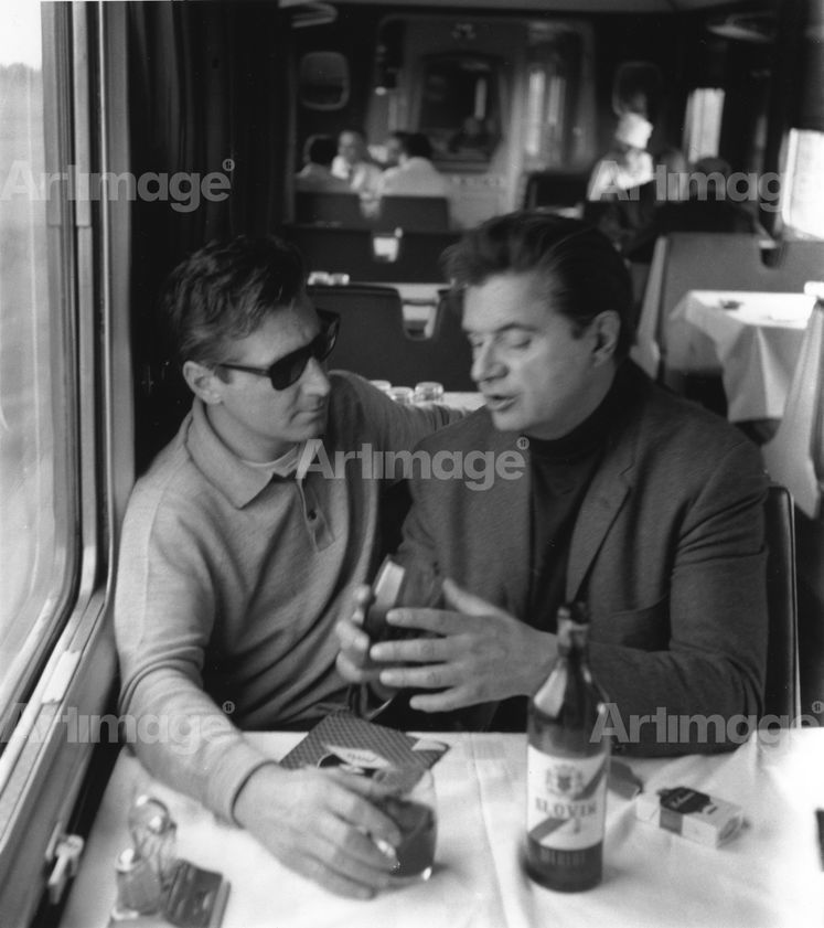 Enlarged version of Francis Bacon and George Dyer on the Orient Express to Athens, 1965