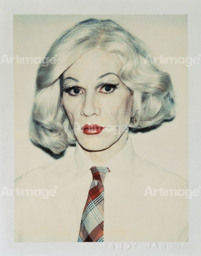 Enlarged version of Self-Portrait in Drag, 1981