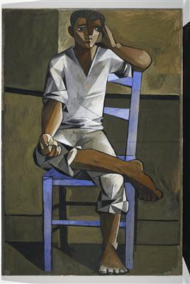 Boy on a Blue Chair, 1946 By John Craxton