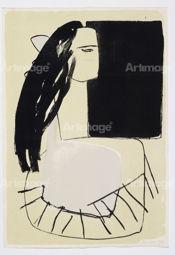 Woman with Dark Hair, 1956