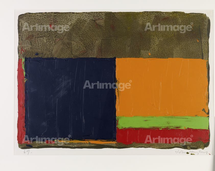 Gouache (Orange/Green), 1969