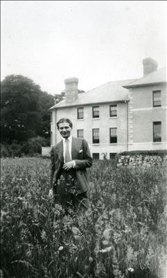 "Francis Bacon outside ""Farmleigh"", Abbeyleix, Co. Laois, Ire..."