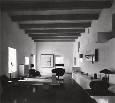 Photo of interior at Victor's farmhouse in Malta, 1980s