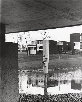 Sculpture at Apollo Pavilion, Peterlee, 1970s By Victor Pasmore