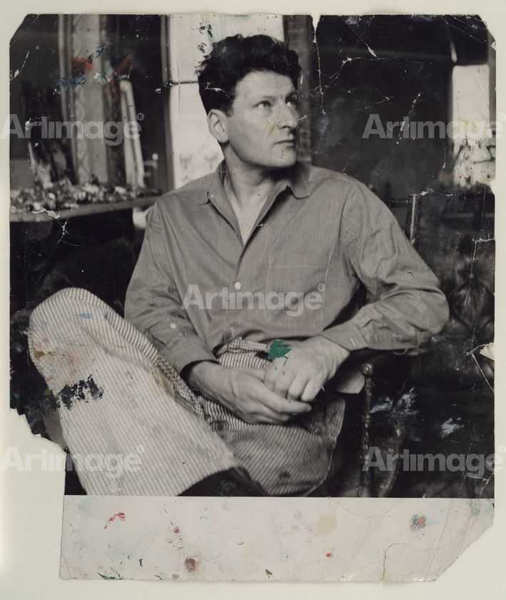 Enlarged version of Lucian Freud, c. 1960s