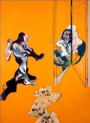 Triptych-Studies from the Human Body, 1970 (left panel) By Francis Bacon