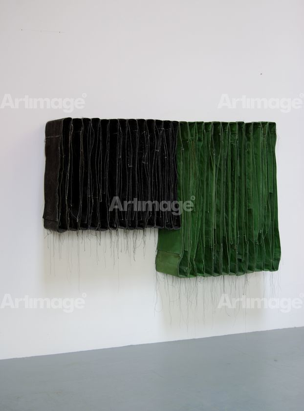 Wallspine (Black & Green), 2013