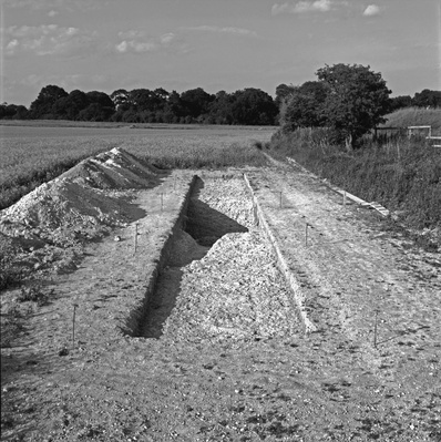 Trench 10 Excavated, Alfred's Castle, Oxfordshire, 2000