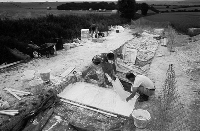 Trench 10, work in progress, Alfred's Castle, Oxfordshire, S...